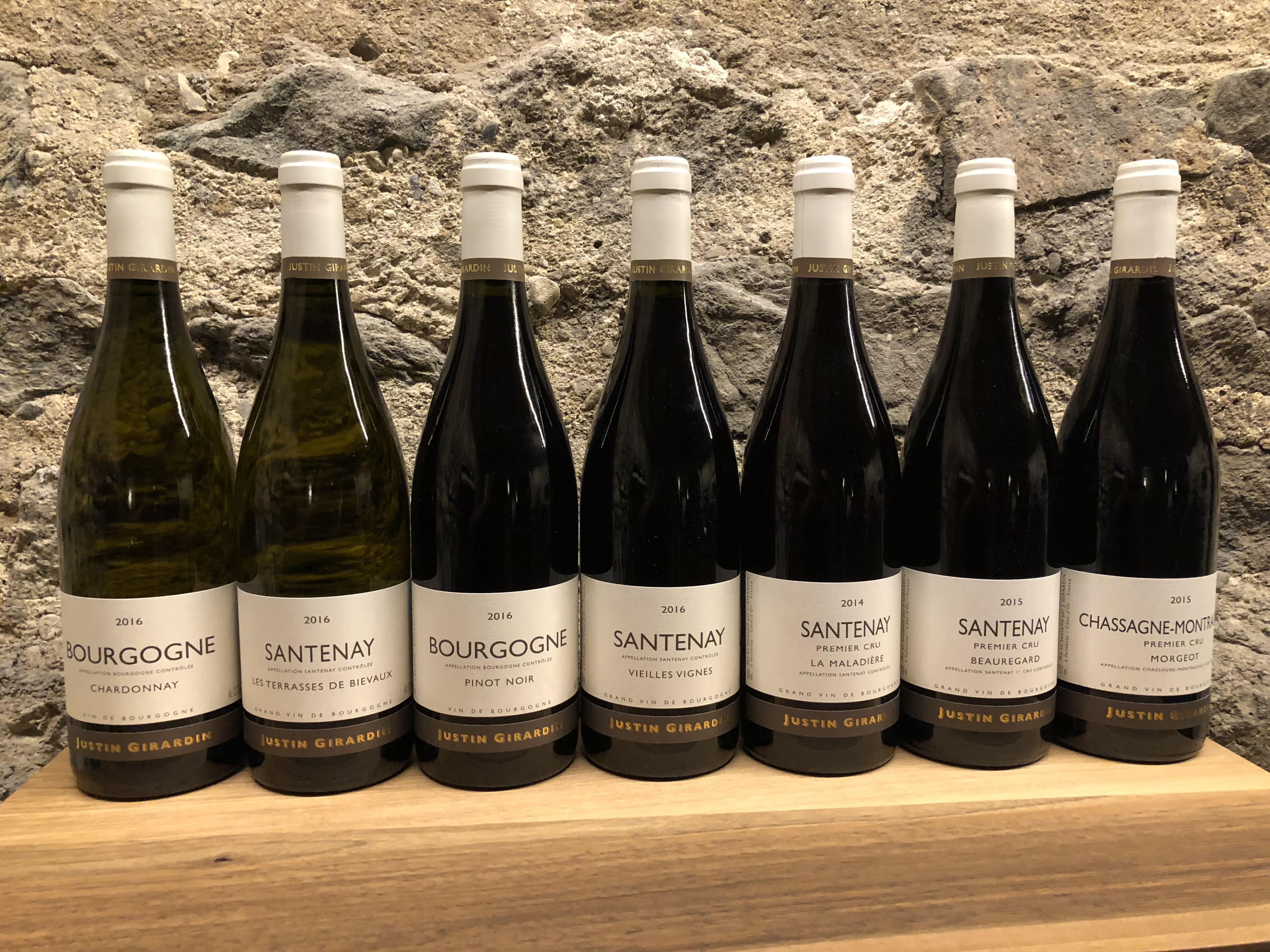 Burgund Wein, Santenay, Justin Giradin