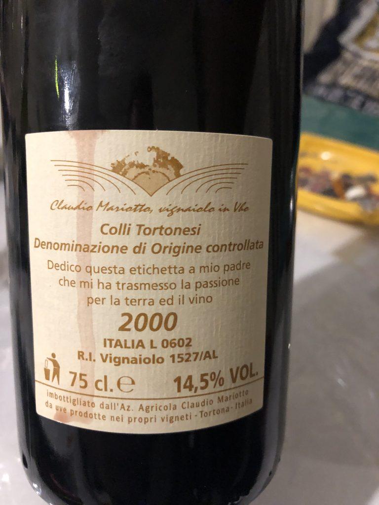 Claudio Mariotto, Barbera Superiore, Wein Piemont